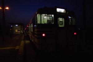 真っ暗な無人駅までお出かけ